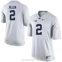Mens Marcus Allen Penn State Nittany Lions #2 Authentic White College Football C76 Jersey
