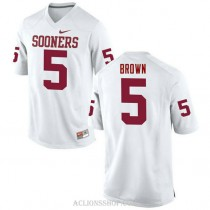 Mens Marquise Brown Oklahoma Sooners #5 Game White College Football C76 Jersey