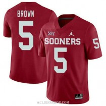 Mens Marquise Brown Oklahoma Sooners #5 Jordan Brand Authentic Red College Football C76 Jersey