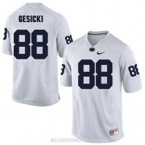 Mens Mike Gesicki Penn State Nittany Lions #88 Authentic White College Football C76 Jersey