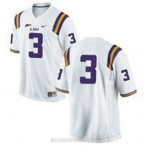 Mens Odell Beckham Jr Lsu Tigers #3 Authentic White College Football C76 Jersey No Name