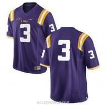 Mens Odell Beckham Jr Lsu Tigers #3 Game Purple College Football C76 Jersey No Name