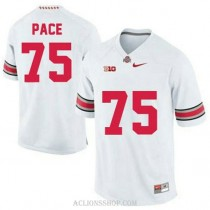 Mens Orlando Pace Ohio State Buckeyes #75 Authentic White College Football C76 Jersey