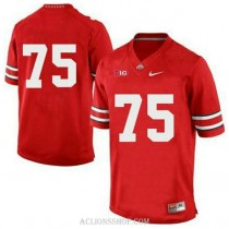 Mens Orlando Pace Ohio State Buckeyes #75 Game Red College Football C76 Jersey No Name