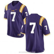 Mens Patrick Peterson Lsu Tigers #7 Game Purple College Football C76 Jersey No Name