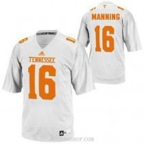 Mens Peyton Manning Tennessee Volunteers #16 Adidas Authentic White College Football C76 Jersey