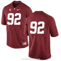 Mens Quinnen Williams Alabama Crimson Tide #92 Limited Red College Football C76 Jersey No Name
