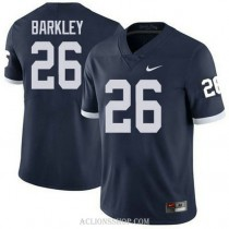 Mens Saquon Barkley Penn State Nittany Lions #26 Authentic Navy College Football C76 Jersey