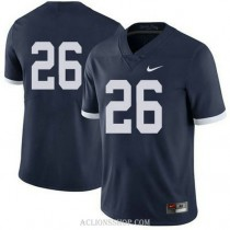 Mens Saquon Barkley Penn State Nittany Lions #26 Authentic Navy College Football C76 Jersey No Name