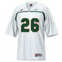 Mens Sean Taylor Miami Hurricanes #26 Authentic White College Football C76 Jersey