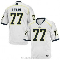 Mens Taylor Lewan Michigan Wolverines #77 Authentic White College Football C76 Jersey
