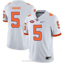 Mens Tee Higgins Clemson Tigers #5 Limited White College Football C76 Jersey