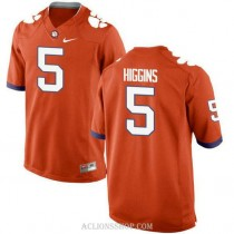 Mens Tee Higgins Clemson Tigers #5 New Style Limited Orange College Football C76 Jersey