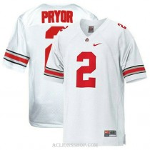 Mens Terrelle Pryor Ohio State Buckeyes #2 Limited White College Football C76 Jersey