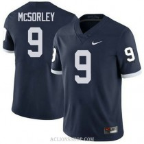 Mens Trace Mcsorley Penn State Nittany Lions #9 Authentic Navy College Football C76 Jersey