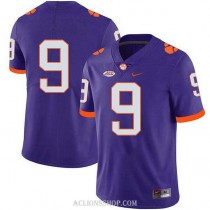 Mens Travis Etienne Clemson Tigers #9 Game Purple College Football C76 Jersey No Name