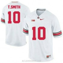 Mens Troy Smith Ohio State Buckeyes #10 Authentic White College Football C76 Jersey