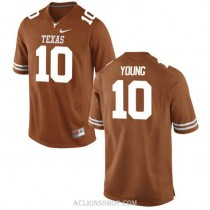 Mens Vince Young Texas Longhorns #10 Authentic Orange College Football C76 Jersey