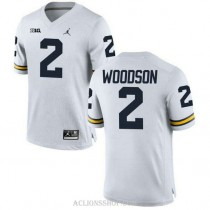 Michigan Wolverines Charles Woodson Youth Authentic White #2 Stitched Jordan College Football C76 Jersey