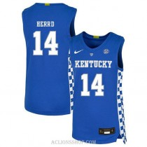 Tyler Herro Kentucky Wildcats #14 Limited College Basketball Youth C76 Jersey Blue