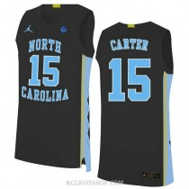 Vince Carter North Carolina Tar Heels #15 Authentic College Basketball Youth C76 Jersey Black