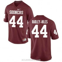 Womens Brendan Radley Hiles Oklahoma Sooners #44 Limited Red College Football C76 Jersey
