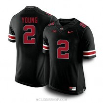 Womens Chase Young Ohio State Buckeyes #2 Authentic Blackout College Football C76 Jersey