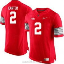 Womens Cris Carter Ohio State Buckeyes #2 Champions Authentic Red College Football C76 Jersey