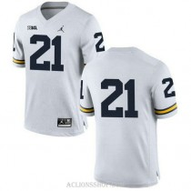 Womens Desmond Howard Michigan Wolverines #21 Limited White College Football C76 Jersey No Name