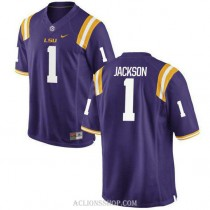 Womens Donte Jackson Lsu Tigers #1 Authentic Purple College Football C76 Jersey