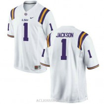 Womens Donte Jackson Lsu Tigers #1 Game White College Football C76 Jersey