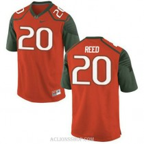Womens Ed Reed Miami Hurricanes #20 Limited Orange Green College Football C76 Jersey