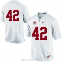 Womens Eddie Lacy Alabama Crimson Tide #42 Authentic White College Football C76 Jersey No Name