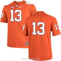 Womens Hunter Renfrow Clemson Tigers #13 Authentic Orange College Football C76 Jersey No Name