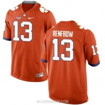 Womens Hunter Renfrow Clemson Tigers #13 New Style Limited Orange College Football C76 Jersey