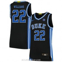 Womens Jay Williams Duke Blue Devils #22 Authentic Black College Basketball C76 Jersey