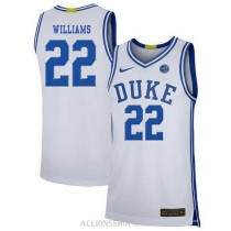 Womens Jay Williams Duke Blue Devils #22 Limited White College Basketball C76 Jersey
