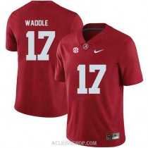 Womens Jaylen Waddle Alabama Crimson Tide #17 Authentic Red College Football C76 Jersey