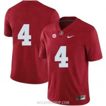Womens Jerry Jeudy Alabama Crimson Tide #4 Authentic Red College Football C76 Jersey No Name