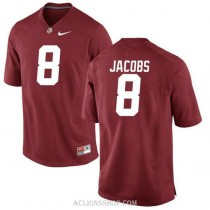 Womens Josh Jacobs Alabama Crimson Tide #8 Authentic Red College Football C76 Jersey