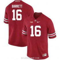 Womens Jt Barrett Ohio State Buckeyes #16 Authentic Red College Football C76 Jersey