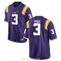 Womens Kevin Faulk Lsu Tigers #3 Authentic Purple College Football C76 Jersey