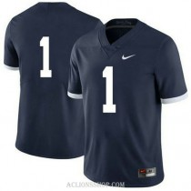 Womens Kj Hamler Penn State Nittany Lions #1 Authentic Navy College Football C76 Jersey No Name