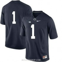 Womens Kj Hamler Penn State Nittany Lions #1 New Style Limited Navy College Football C76 Jersey No Name