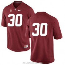 Womens Mack Wilson Alabama Crimson Tide #30 Authentic Red College Football C76 Jersey No Name