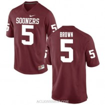 Womens Marquise Brown Oklahoma Sooners #5 Authentic Red College Football C76 Jersey