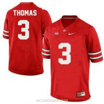 Womens Michael Thomas Ohio State Buckeyes #3 Game Red College Football C76 Jersey