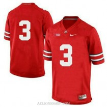 Womens Michael Thomas Ohio State Buckeyes #3 Game Red College Football C76 Jersey No Name