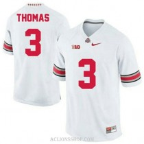 Womens Michael Thomas Ohio State Buckeyes #3 Limited White College Football C76 Jersey