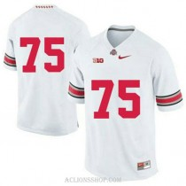 Womens Orlando Pace Ohio State Buckeyes #75 Authentic White College Football C76 Jersey No Name